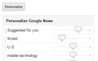 Google News topic frequency