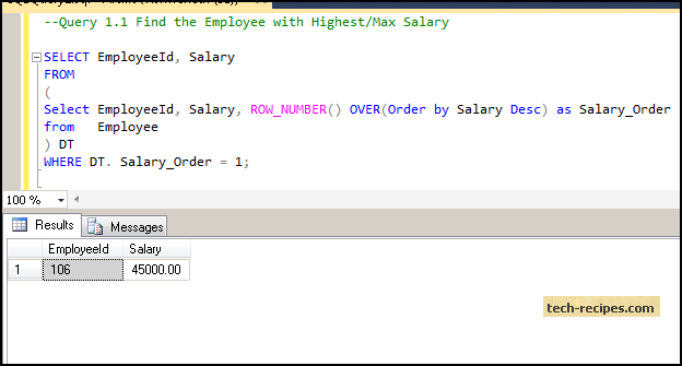 How to Find Highest Salary SQL Server_2
