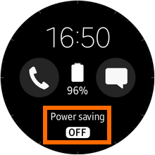 Samsung Gear S2 - Power Saving Home Screen - OFF