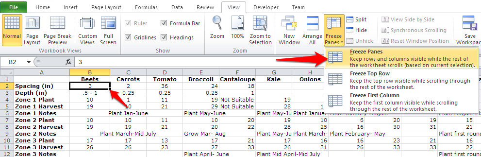 How to freeze rows and columns in excel frozen excel freeze panes ccuart Gallery