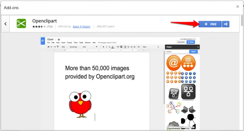 how to integrate clipart with google docs