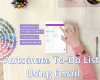 Android and iPhone - Automate To DO List using Email
