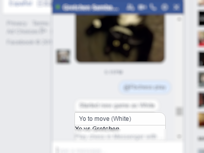 Facebook - Messenger - Conversation - play Command - Start new game - color