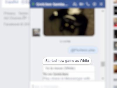 Facebook - Messenger - Conversation - play Command - Start new game