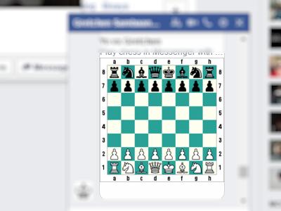 Facebook - Messenger - Play Chess - Board