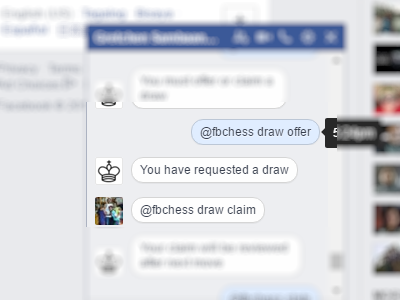 Facebook - Messenger - Play Chess - Draw