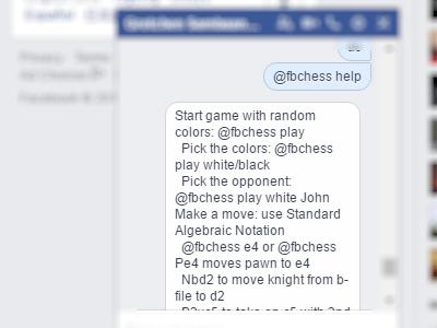 Facebook - Messenger - Play Chess - Help