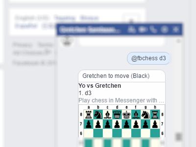 Facebook - Messenger - Play Chess - Move a piece