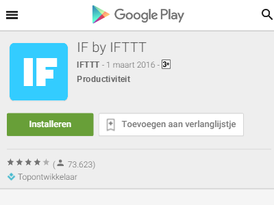 IF by IFTTT on playstore