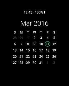 Samsung Galaxy S7 - Always On Display - screen timeout - calendar view