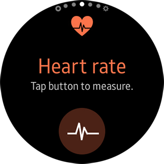 Samsung Gear S2 - Heart Rate button