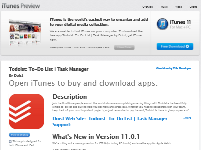 Todoist download page