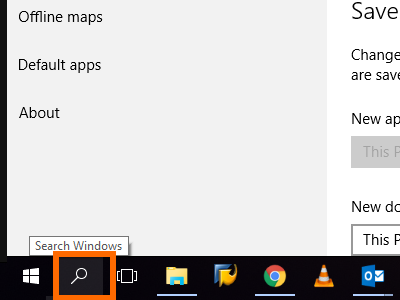 Windows Search button