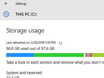 Windows - System - Storage - Drive Details