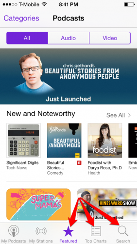 find podcasts on iphone