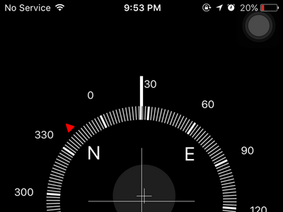 iPhone - Home - Extra Folder - Compass