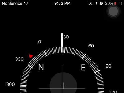 iPhone - Home - Extra Folder - Compass