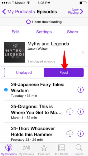 iPhone Podcast Feed
