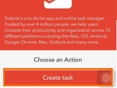 iphone IF action - Todoist create task