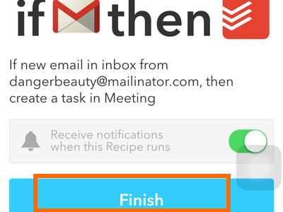 iphone IF action - Todoist task specifics - Finish