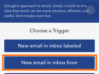 iphone IF recipe trigger - GMAIL list of triggers