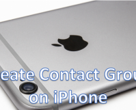 Add Contact Group on iPhone