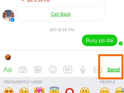 Facebook Messenger icon - message - emoticon list - send icon