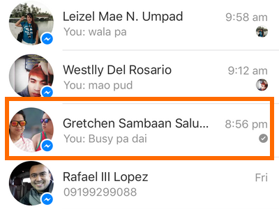 Facebook Messenger icon - message list