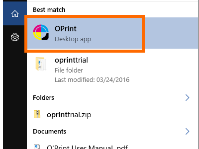 Oprint icon on windows