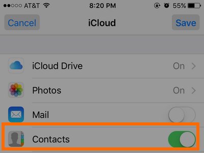 iPhone - Add iCloud - Contacts