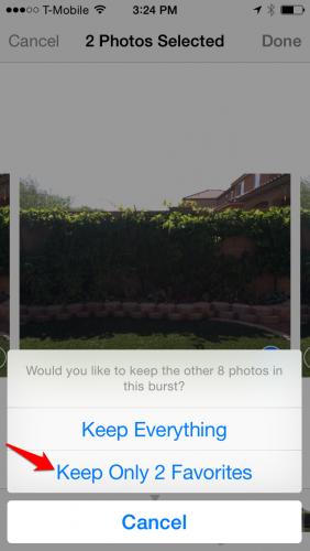 iPhone Photo Burst Discard