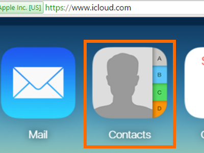 iPhone -icloud - Contacts