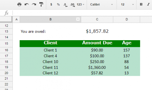 Google Sheets conditional formatting non-blank cells