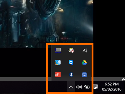 Notification Bar on the Taskbar