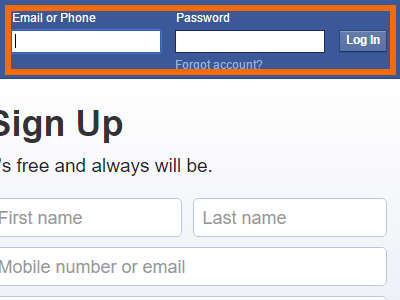 Windows - Facebook login