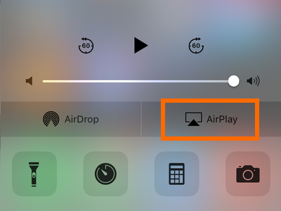 iPhone Control Center - Airplay