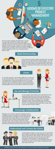 Axioms of Effective Project Planning Infographic