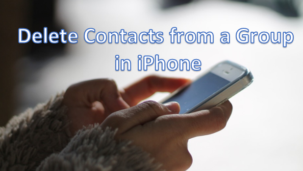 Delete Contacts from a Group in iPhone