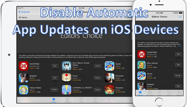 turn off automatic updates iphone disable automatic ios app updates 18099