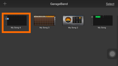 GarageBand - Smart Strings - Drop down box - My Music list - ringtone