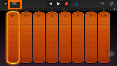 GarageBand - Smart Strings - View button