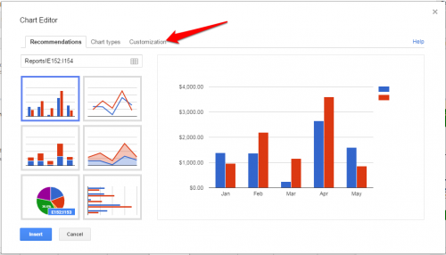 Google Sheets Create Chart