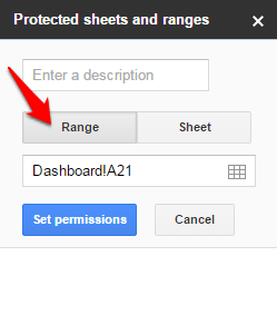 google sheets remove protection