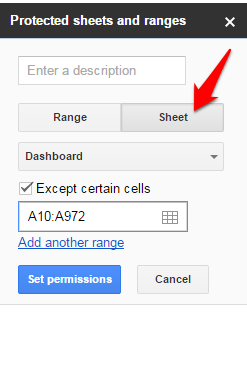 protect worksheet in google docs