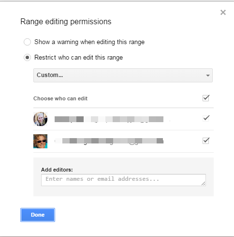 Google Sheets Set Permissions