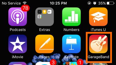 Home - GarageBand icon