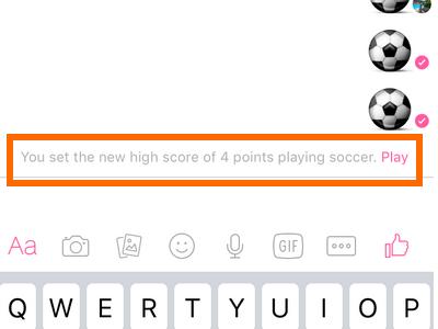 Messenger - soccer game score