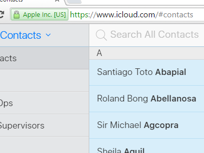Select All Contacts