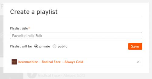 Soundcloud New Playlist
