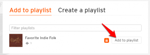 Soundcloud add song to playlist